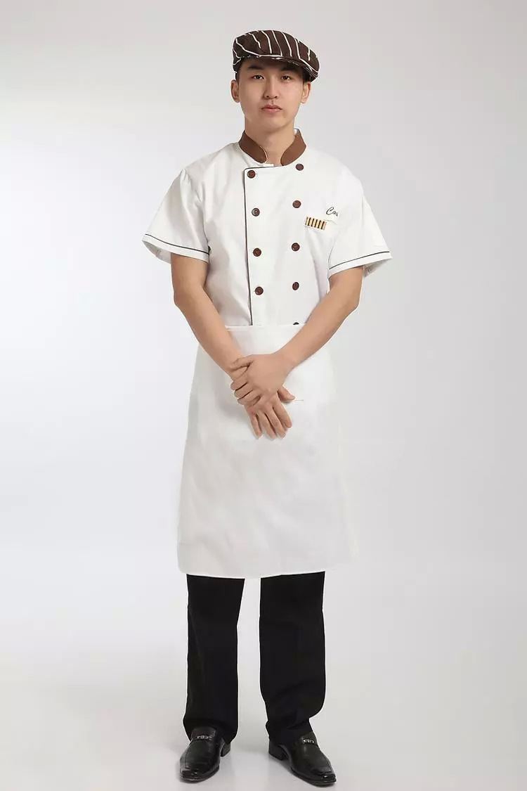 酒店厨师工作服短袖